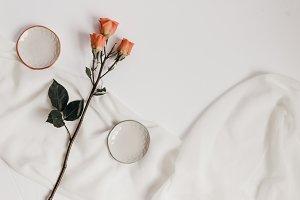 Tangerine Rose Styled Stock 076
