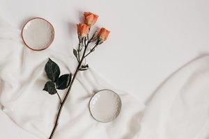 Tangerine Rose Styled Stock 077
