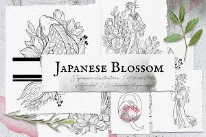 Japanese Blossom. Graphic Collection