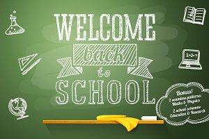 School chalkboard banners + Bonus