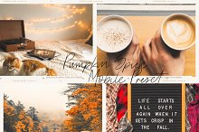 Pumpkin Spice Lightroom Mobile Prese