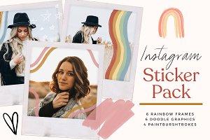 Instagram Rainbow Sticker Graphics
