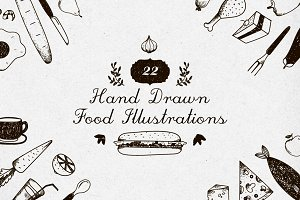 22 Food Emblems, Illustrations