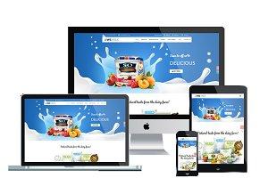 WS Milk WooCommerce WordPress theme