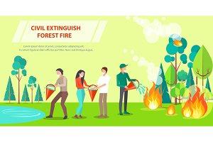 Poster of Civil Extinguishing Forest