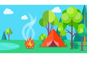 Camping Time in Summer Template
