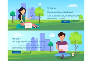 Social Networking Web Banner with
