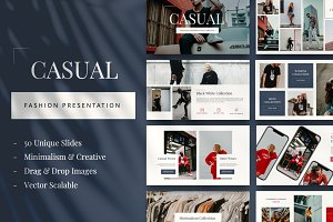 Casual Fashion Powerpoint Templates