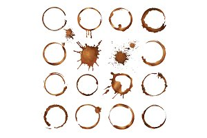 Coffee circles. Dirty rings splashes