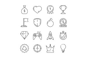 Gamification icon. Business rules