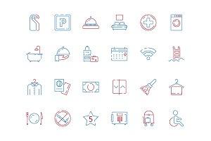 Hotel related symbols. Bathroom
