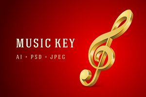 Music key notes set