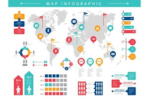 World infographic. Business