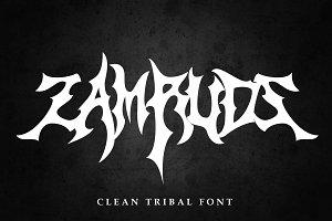 ZAMRUDS - Tribal Deathmetal Font