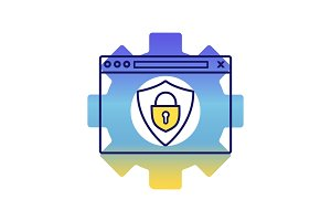Data protection color icon