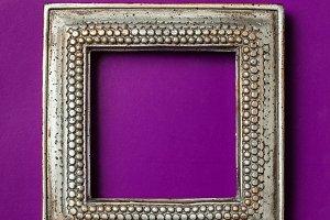 Empty vintage photo frame