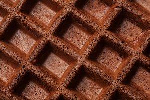 Chocolate waffles background