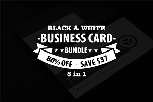 Black & White Business Card Bundle
