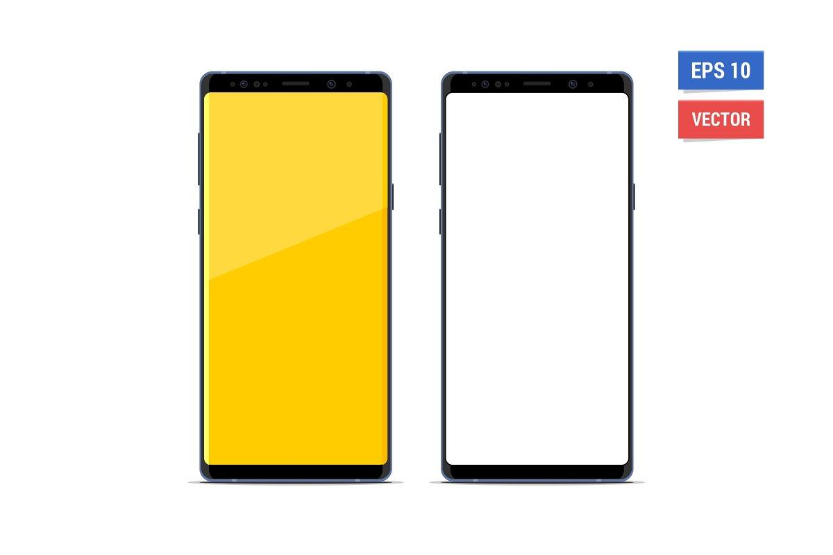 2ddde10984b5a2 Mock-up Samsung Galaxy Note 9 ~ Mobile & Web Mockups ~ Creative Market