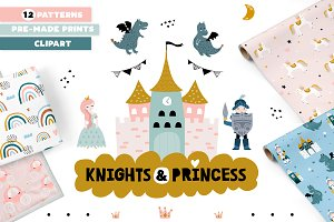 Knights & Princess graphic set