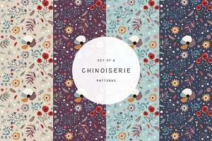 Chinoiserie pattern set