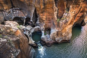 Bourkes Luck Potholes view in South