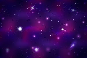 Colorful deep space background