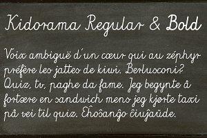 Kidorama - 2 fonts