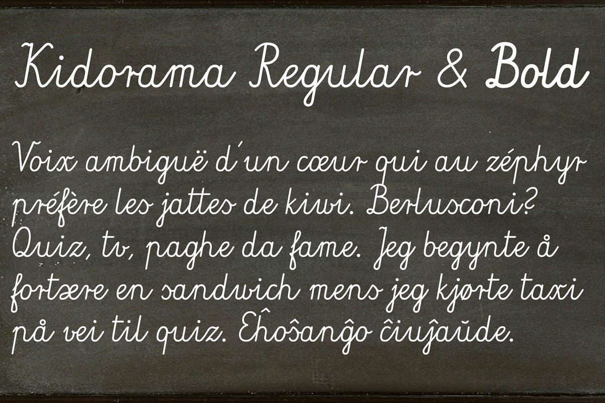Kidorama - 2 fonts ~ Script Fonts ~ Creative Market