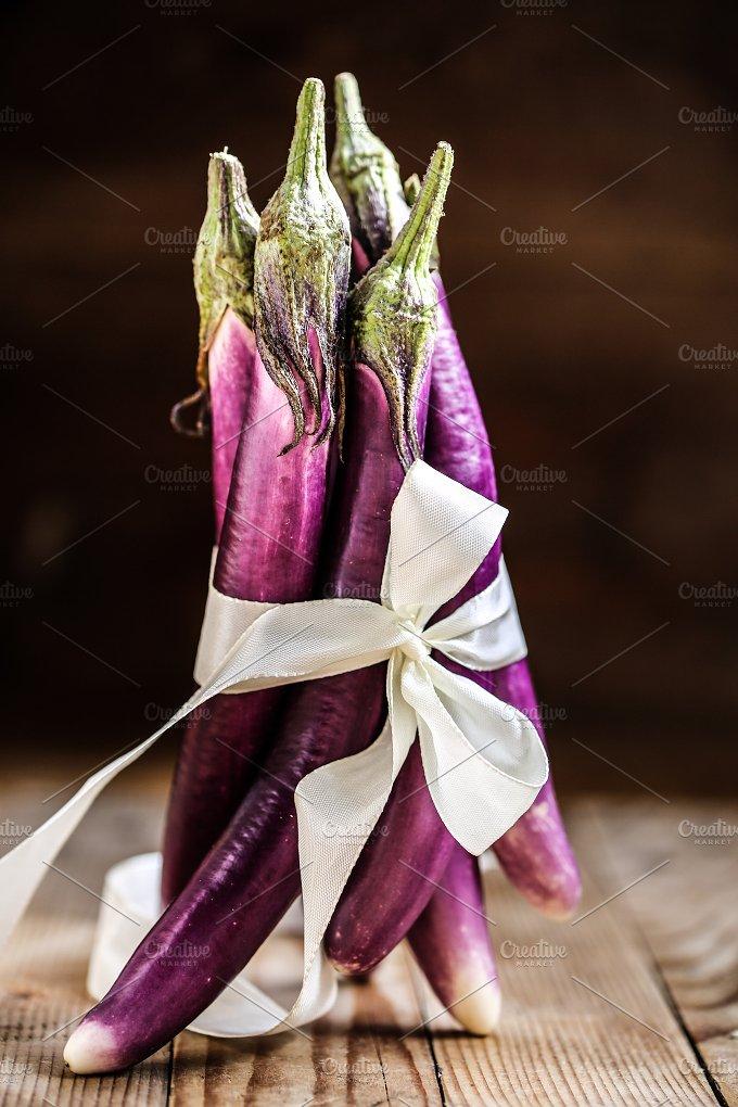 Baby eggplant. Pretty and purple. - Food & Drink