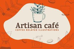 Artisan Cafe illustrations