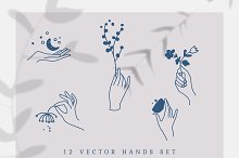 Vector Hands Set by  in Graphics