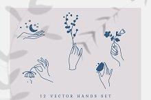 Vector Hands Set by  in Graphics