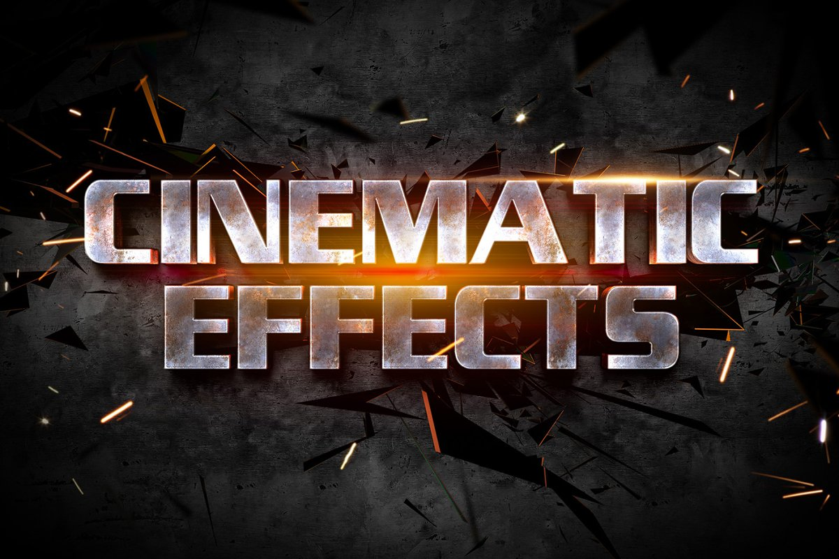 Cinematic 3D Text Effects Vol 1 ~ Photoshop Add-Ons