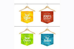 Vector sale labels set