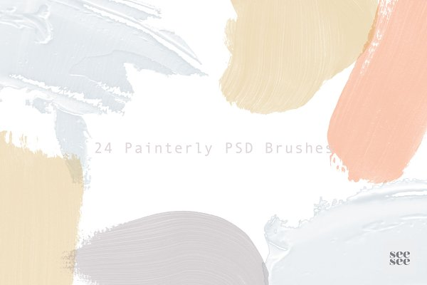 Photoshop Brushes: SEE SEE - 24 Painterly PSD Brushes