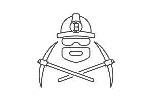 Miner logo. Mining Bitcoin Crypto