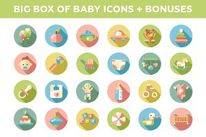 Big Box of Baby Icons + Bonuses