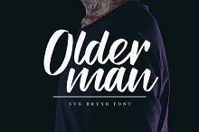Olderman SVG Brush Font