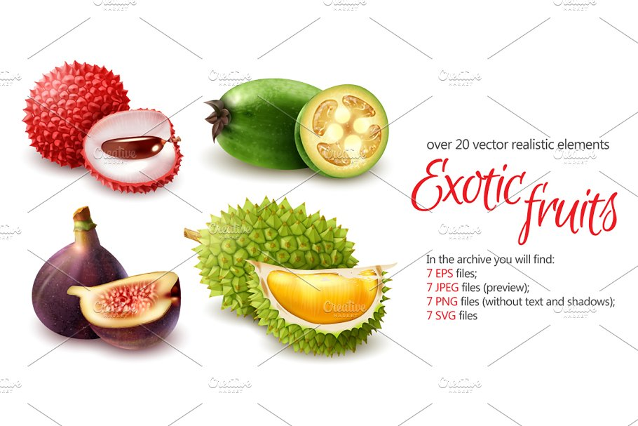 Exotic Fruits Set