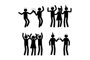 Celebration Poses Set Black