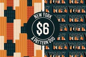 New York Vector Pattern Duo