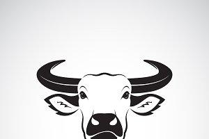Vector of buffalo head design.Animal