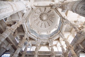 Interior of Ranakpur Temple