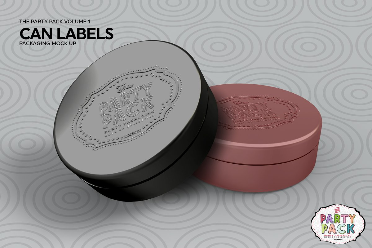 Can Label Packaging Mockup