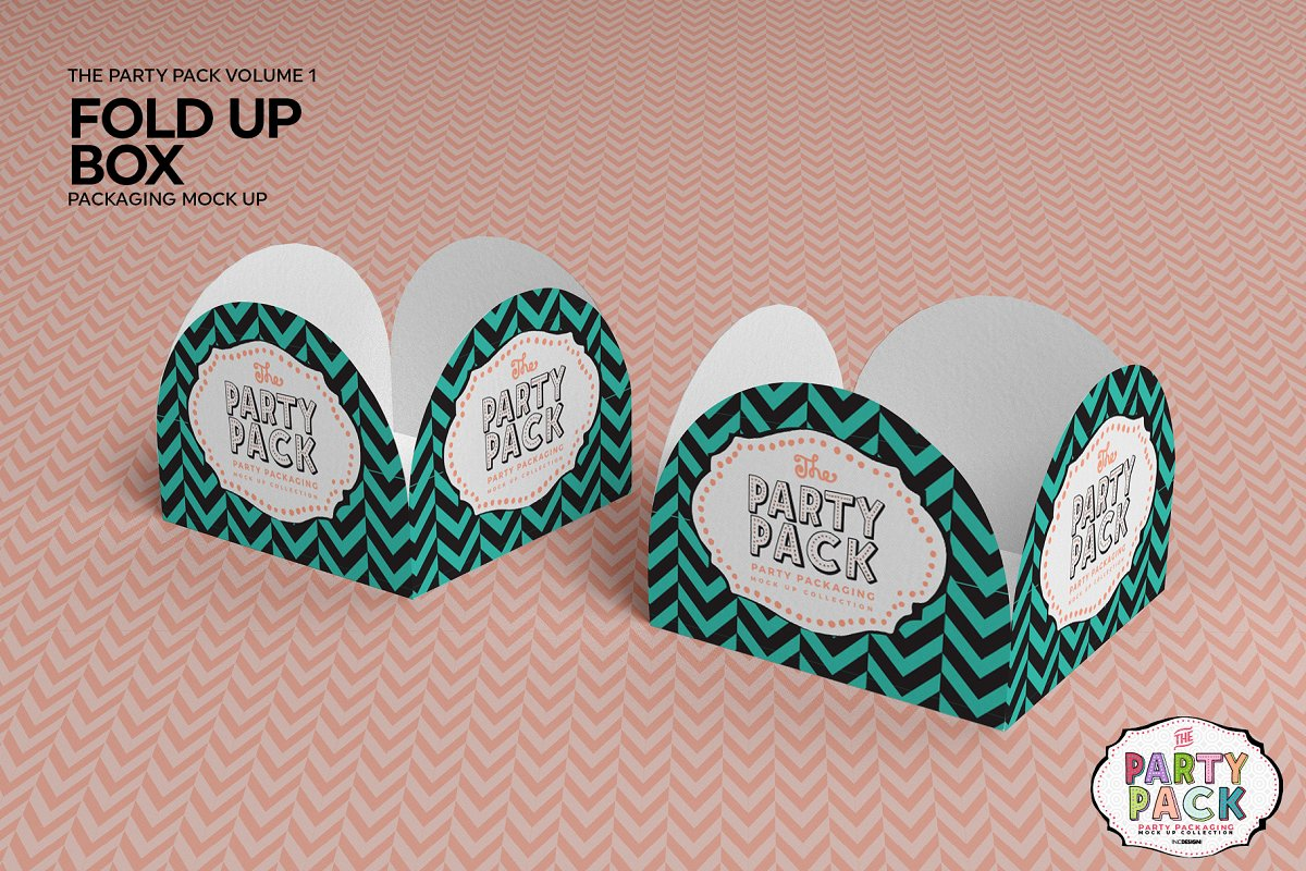 Fold Up Box Packaging Mockup