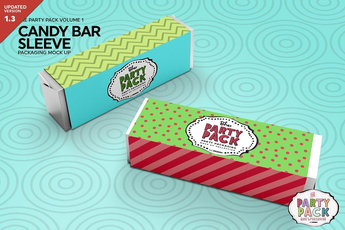 Candy Bar Sleeve Packaging Mockup