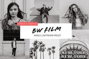 Black and White Film Preset