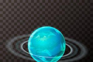 Bright realistic Uranus planet