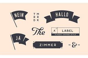 Set of vintage graphic. Design